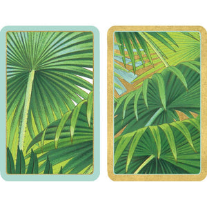Palm Fronds Large Type Playing Cards - 2 Decks Included - Maisonette Shop