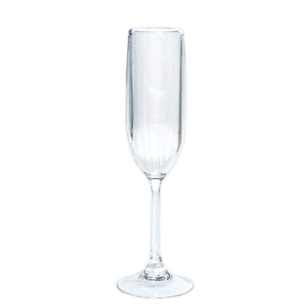 Acrylic Champagne Flute in Crystal Clear - 1 Each - Maisonette Shop