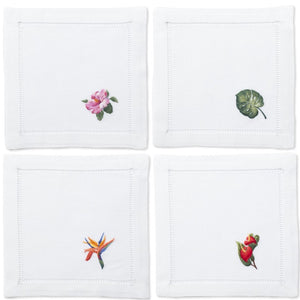 Tropical Flora Cocktail Napkins Set - Maisonette Shop