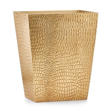 Crocodile Gold Wastebasket - Maisonette Shop
