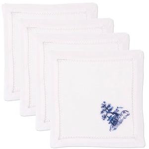 Blue Canton Cocktail Napkins Set - Maisonette Shop