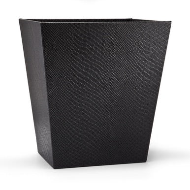 Conda Black Wastebasket - Maisonette Shop