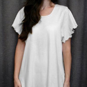 White Knit Short Sleeved Nightgown - Maisonette Shop