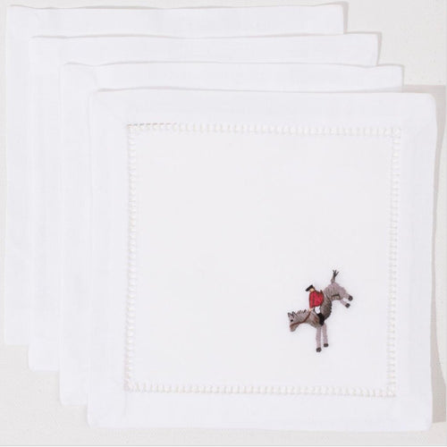 Hunt Scene Cocktail Napkins Set - Maisonette Shop