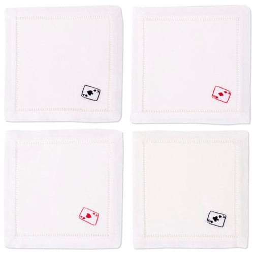 Aces Cocktail Napkins Set - Maisonette Shop