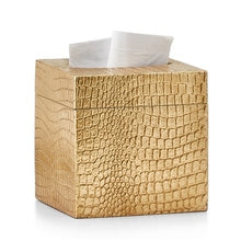 Load image into Gallery viewer, Crocodile Gold Tissue Cover - Maisonette Shop