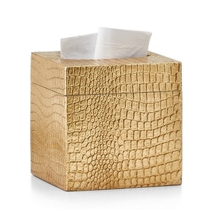 Crocodile Gold Tissue Cover - Maisonette Shop