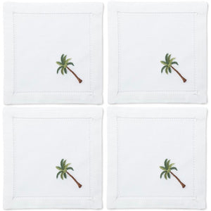 Palm Tree Cocktail Napkins Set - Maisonette Shop