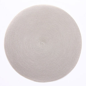 Silver & Sand Round Braided Placemat - Maisonette Shop