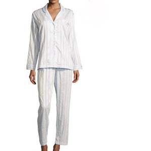 Tina's Shadow Stripe Pajamas White