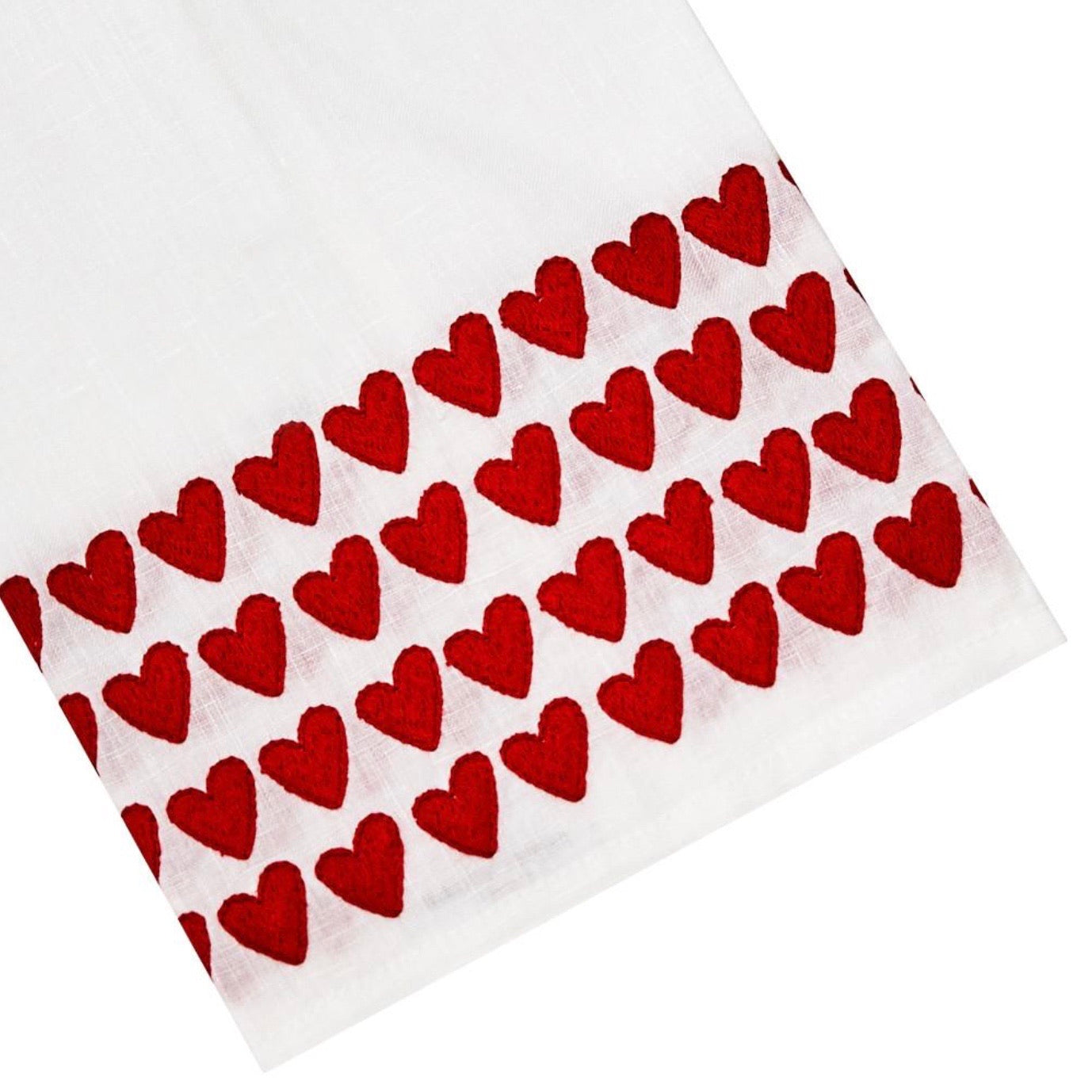 Red Full Hearted Tip Towels - Maisonette Shop