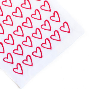 Red Empty Hearted Cocktail Napkin Set - Maisonette Shop