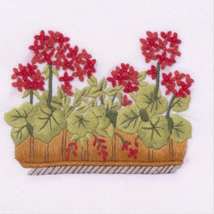 French Geraniums Hand Towel - Maisonette Shop
