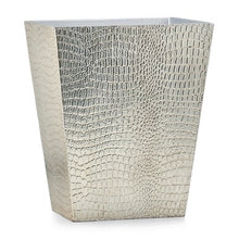 Load image into Gallery viewer, Crocodile Silver Wastebasket - Maisonette Shop