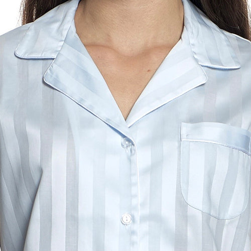 Tina's Shadow Stripe Nightshirt Blue