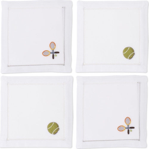 Mixed Tennis Cocktail Napkins Set - Maisonette Shop
