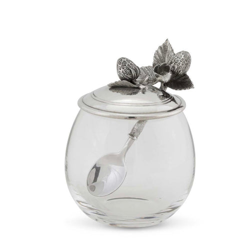 Strawberry Jam Jar with Spoon - Maisonette Shop
