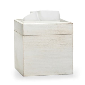Riviera White Tissue Cover - Maisonette Shop