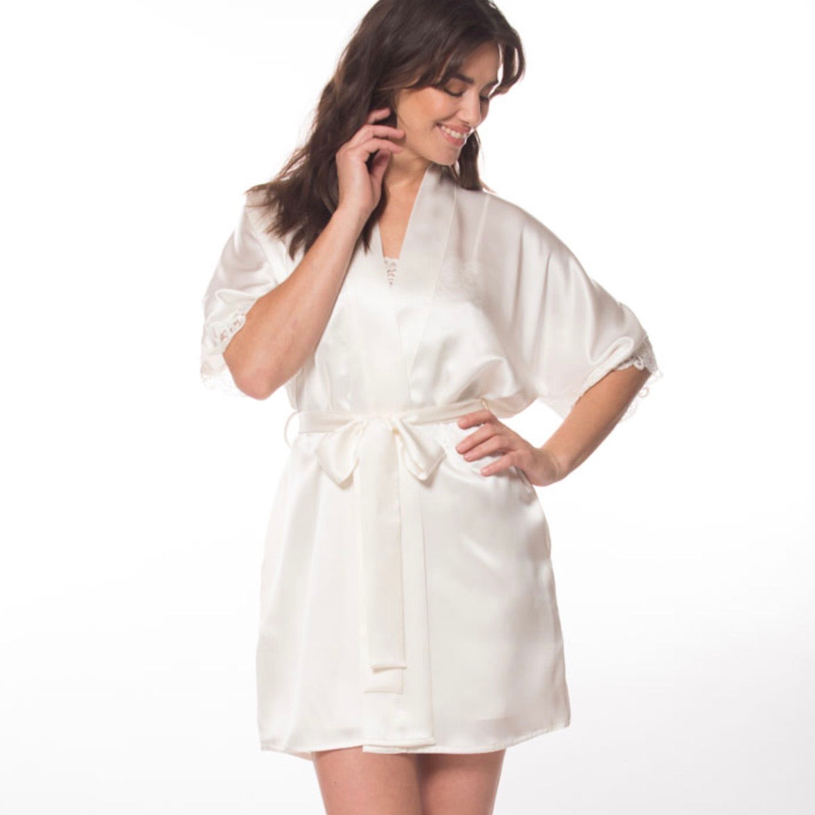 Boudoir Short Robe - Maisonette Shop