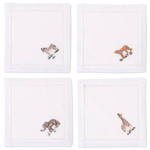 African Animal Assortment Cocktail Napkins Set - Maisonette Shop