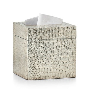 Crocodile Silver Tissue Cover - Maisonette Shop