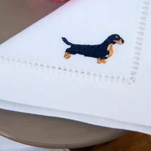 Hand Embroidered Dogs Placemat Set - Maisonette Shop