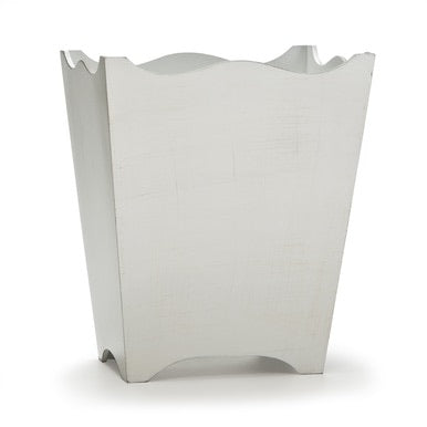 Riviera White Wastebasket - Maisonette Shop