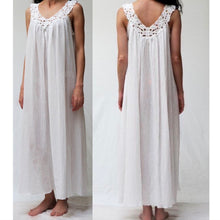 Load image into Gallery viewer, Louisette Cotton Gown with Lace - Maisonette Shop