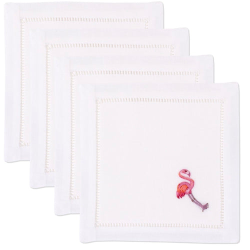 Flamingo Cocktail Napkins Set - Maisonette Shop