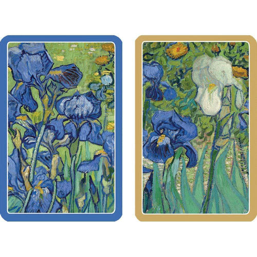 Van Gogh Irises Large Type Playing Cards - 2 Decks Included - Maisonette Shop