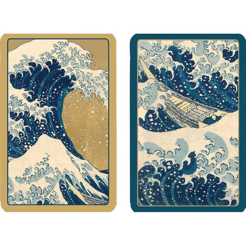 The Great Wave Large Type Playing Cards - 2 Decks Included - Maisonette Shop