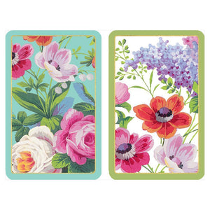 Edwardian Garden Large Type Playing Cards - 2 Decks Included - Maisonette Shop