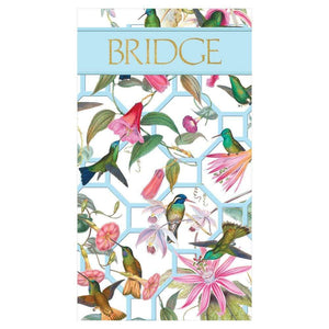 Hummingbird Trellis Bridge Score Pad - Maisonette Shop