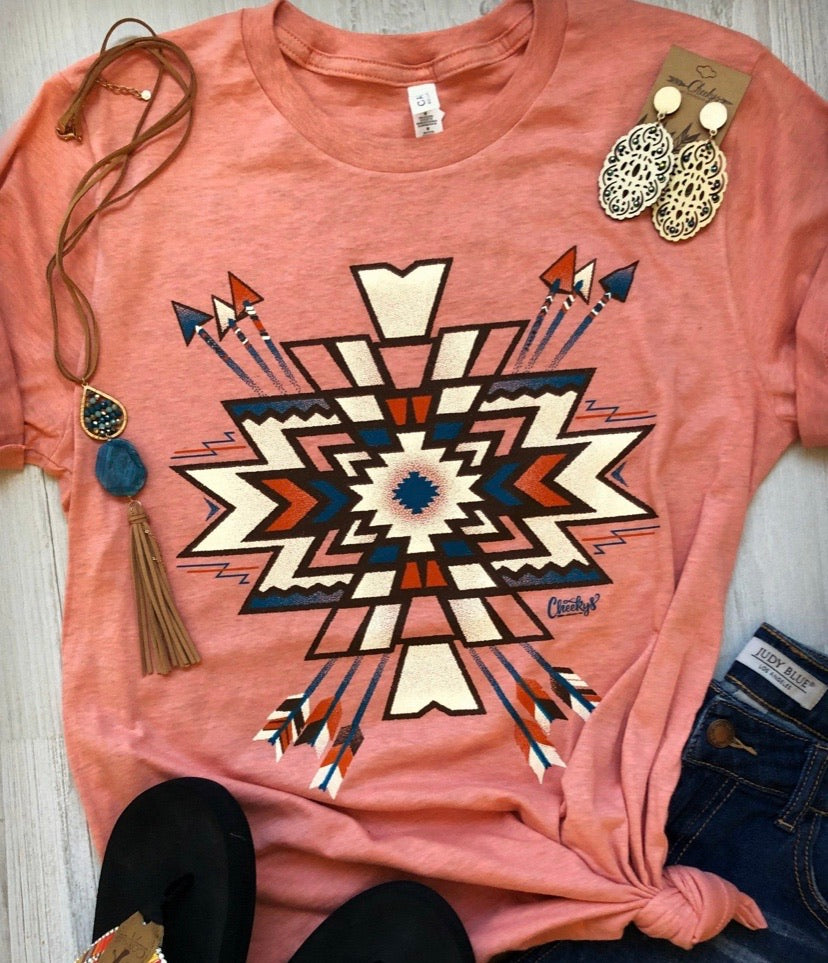 Dreamsicle Aztec Tee