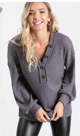 Bonita Button Sweater
