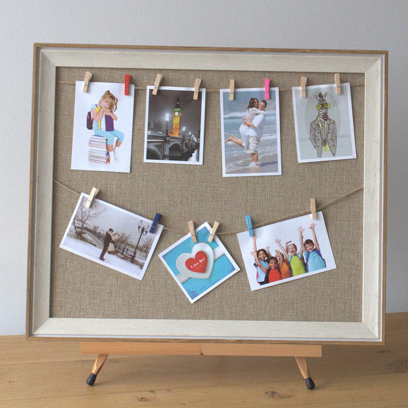 Lrg DIY Peg Photo Frames - Natural Jute