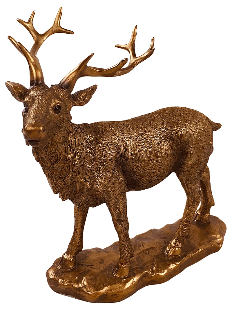 Reflections Bronzed Stag 19cm