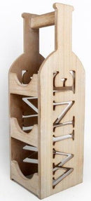 Wooden 3 Bottle Wine Holder 46cm