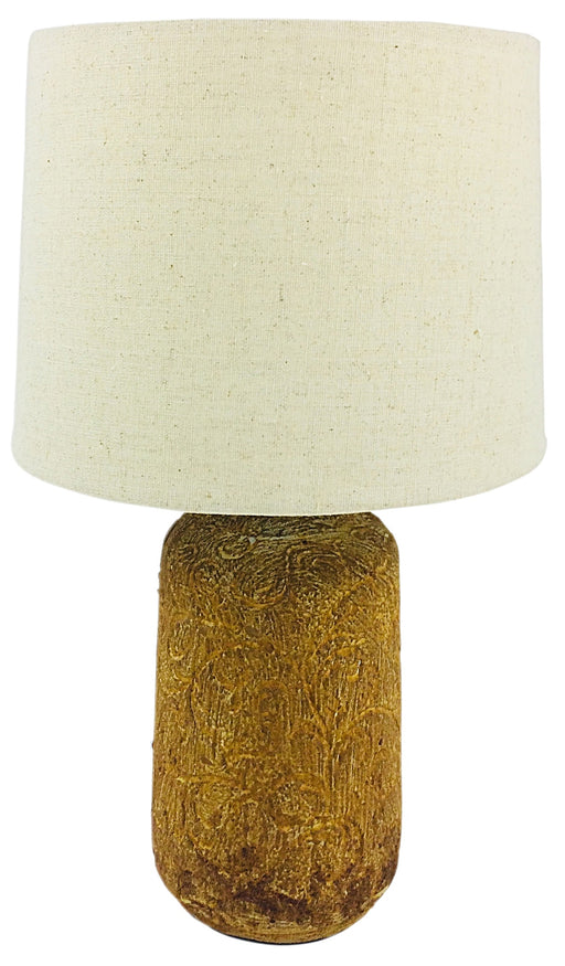Golden Brown Distressed Lamp And Shade 38cm