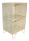 2 Tier Square Side Table Cream