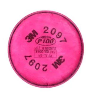3M Particulate Filter P100 Respiratory Protection, 2097/07184(AAD), 2/PK