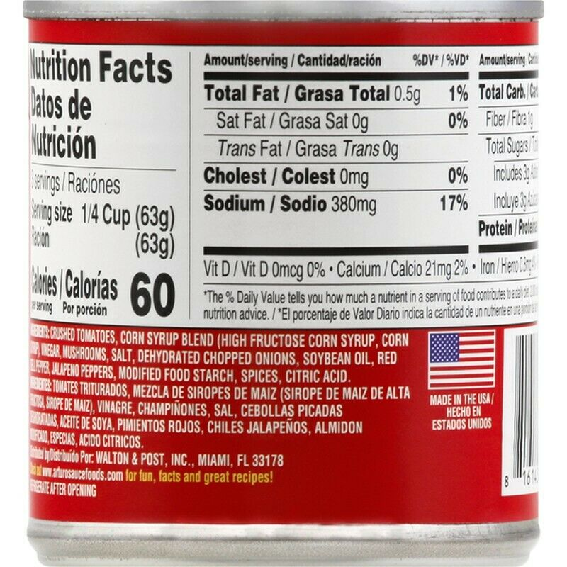 Arturo Original Gourmet Sauce with Mushrooms, 8-Ounce Cans (Pack of 24)