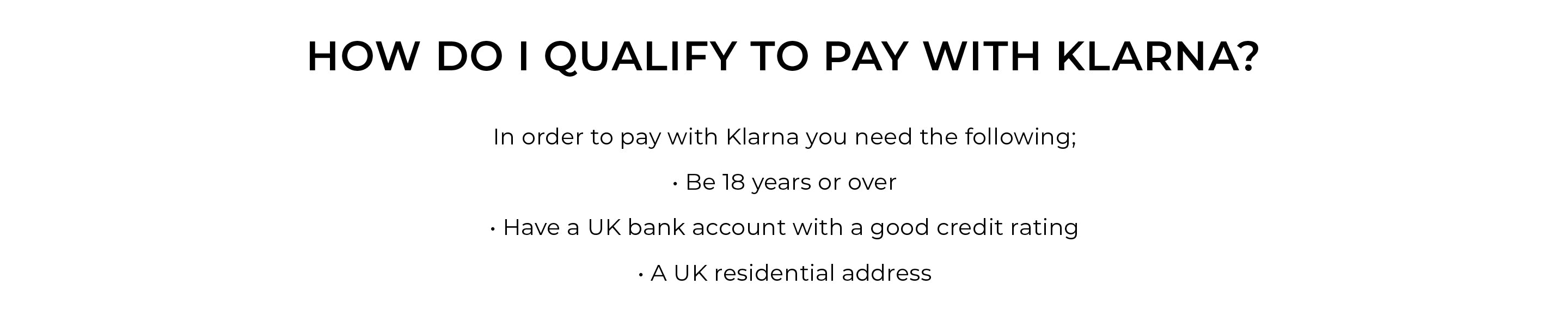 How Do I Qualify To Pay With Klarna?
