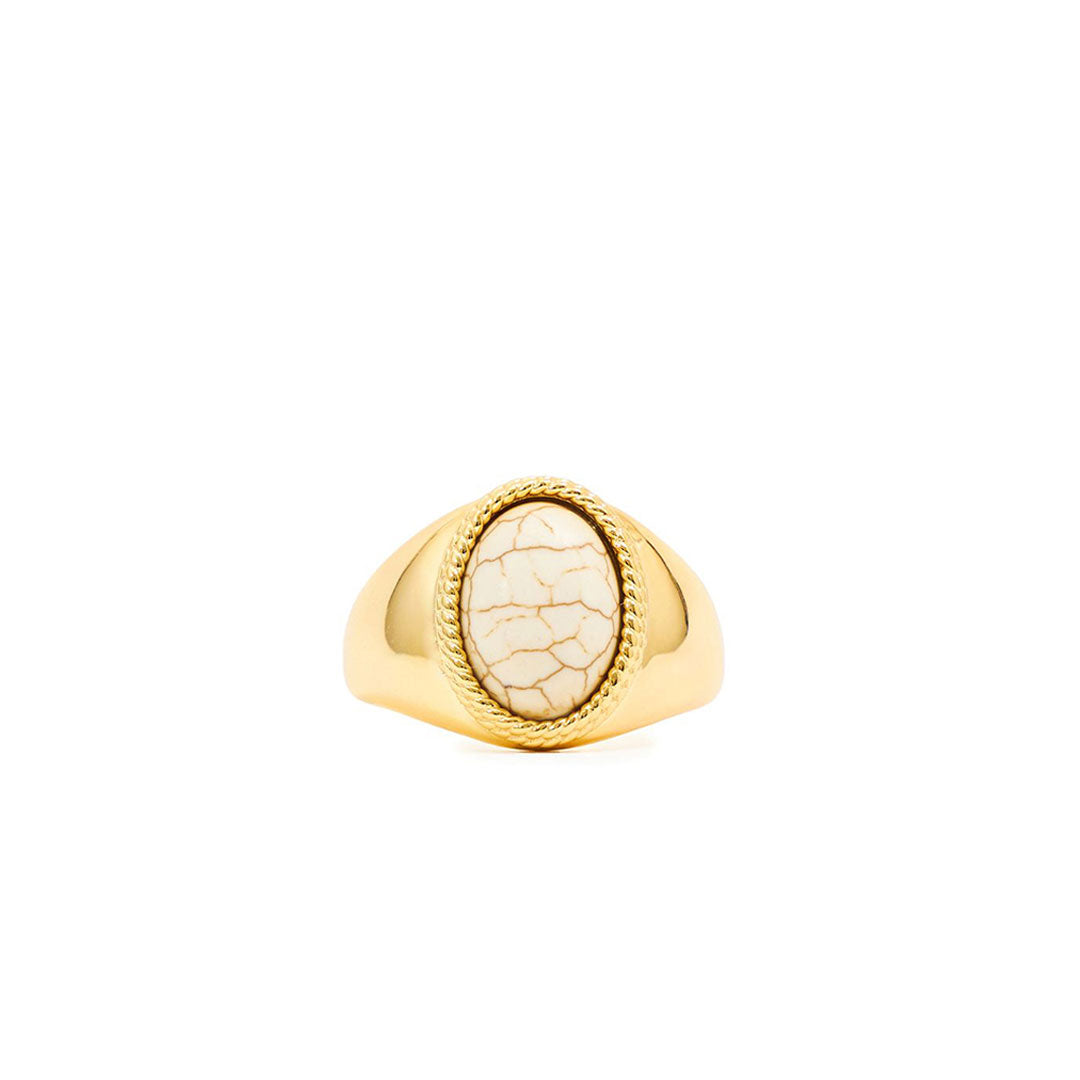 Gold Plated Silver Bone Ring - Serge DeNimes