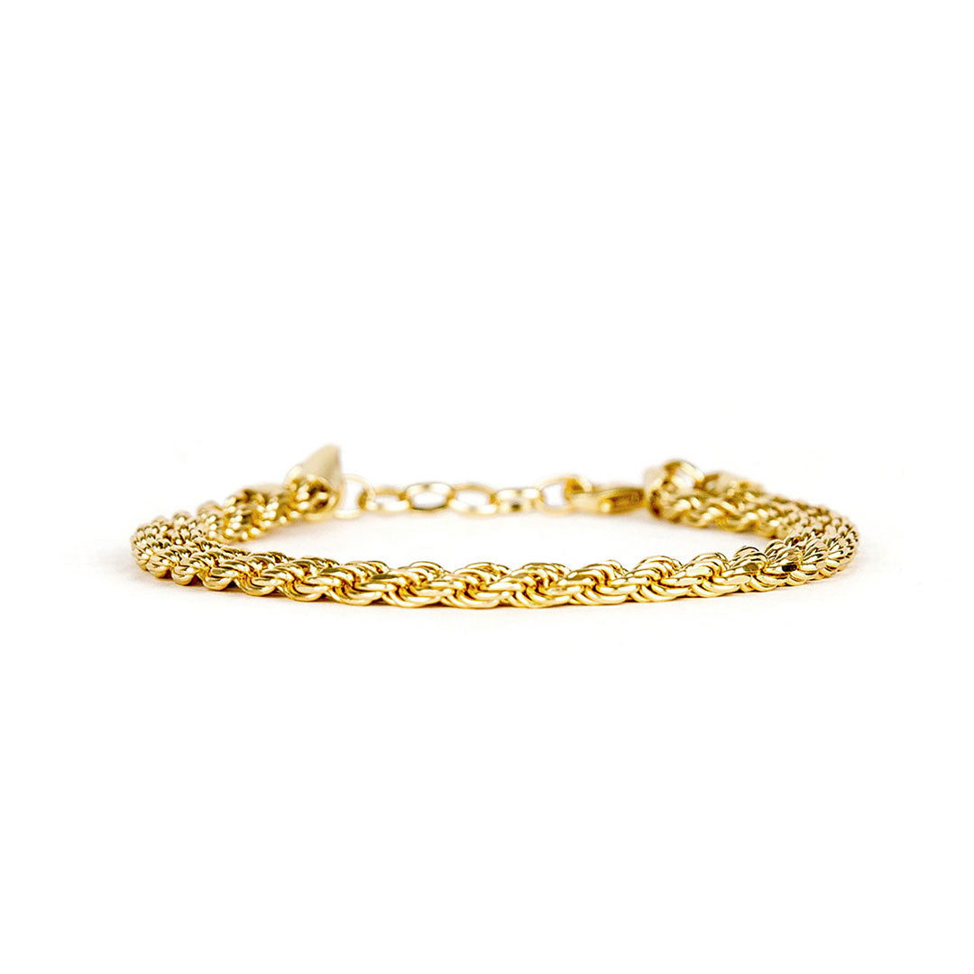 Gold Plated Silver Rope Bracelet - sergedenimes