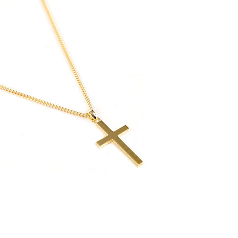 Gold Plated Silver Cross Necklace - Serge DeNimes