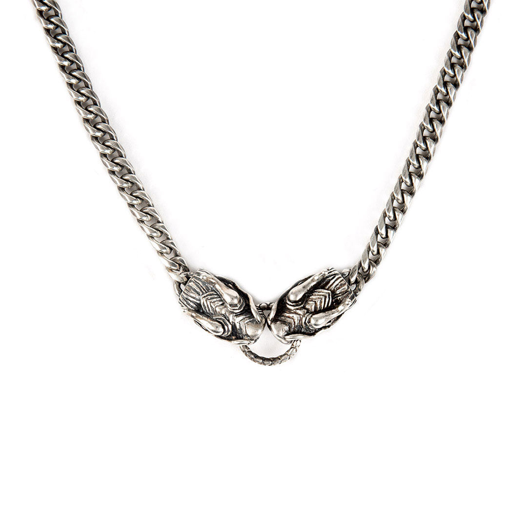 Silver Dragon Necklace - sergedenimes