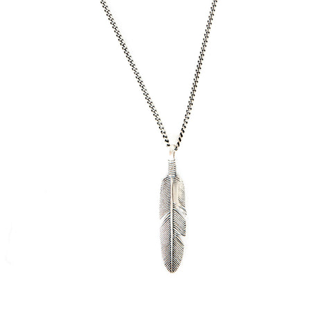 Silver Ethereal Feather Necklace - Serge DeNimes