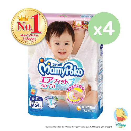 Mamypoko Air Fit Tape - M64 x 4 packs
