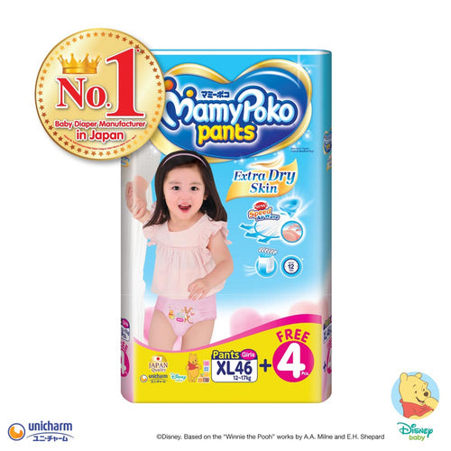 Mamypoko Extra Dry Skin Pants Girl - XL46+4 x 1 pack